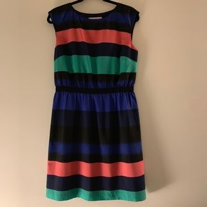 Ann Taylor Loft Navy Striped Dress M